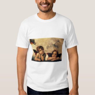 Sistine Madonna, Angels detail by Raphael Tee Shirt