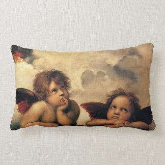 Sistine Madonna, Angels detail by Raphael Throw Pillow