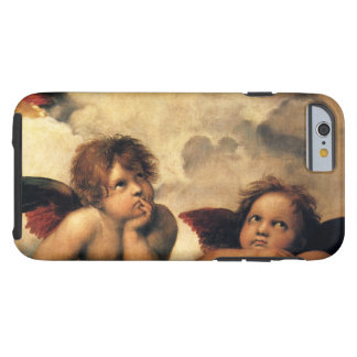 Sistine Madonna, Angels detail by Raphael Tough iPhone 6 Case