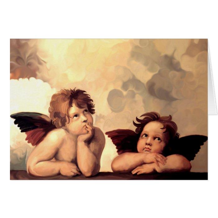 Sistine Madonna Cherubs Raffaelo Sanzio Card