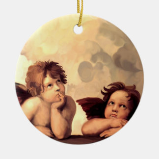 Sistine Madonna Cherubs Raffaelo Sanzio Ceramic Ornament