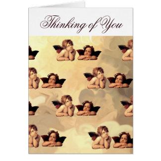 Sistine Madonna Cherubs Raffaelo Sanzio Greeting Card