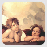 Sistine Madonna Cherubs Raffaelo Sanzio Square Sticker