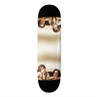 Sistine Madonna Cherubs Thinking Skateboard