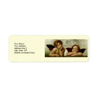 Sistine Madonna detail Custom Return Address Label