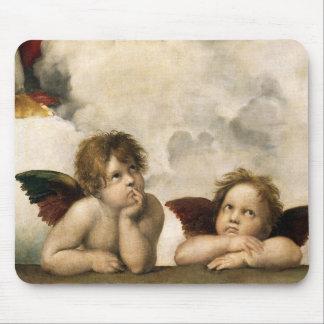 Sistine Madonna Detail, Raphael Mouse Pad