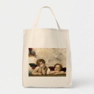 Sistine Madonna Detail, Raphael Tote Bag