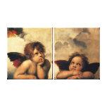 Sistine Madonna, detalle de los ángeles por Impresión En Lienzo