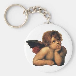 Sistine Madonna, detalle de los ángeles por Llavero Redondo Tipo Pin