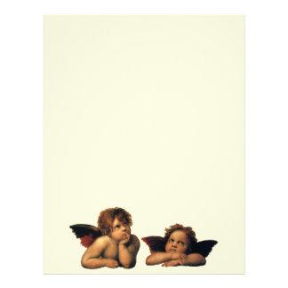 Sistine Madonna, detalle de los ángeles por Membretes Personalizados