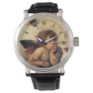 Sistine Madonna, detalle de los ángeles por Relojes