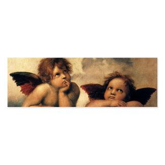 Sistine Madonna, detalle de los ángeles por Tarjetas De Visita Mini
