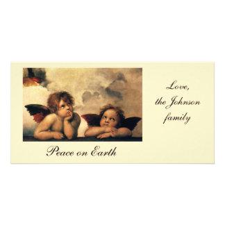 Sistine Madonna, detalle de los ángeles por Tarjeta Fotografica Personalizada