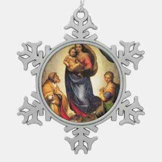 Sistine Madonna y bebé Jesús de Raphael