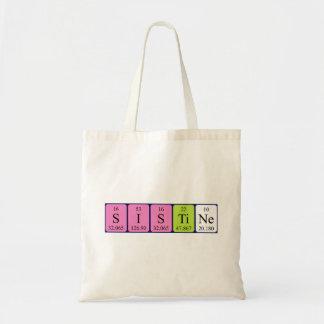 Sistine periodic table name tote bag