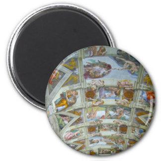 sistine roof refrigerator magnets