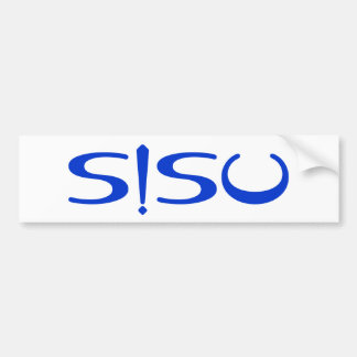 SISU Exclamation Blue White Finnish Bumper Sticker
