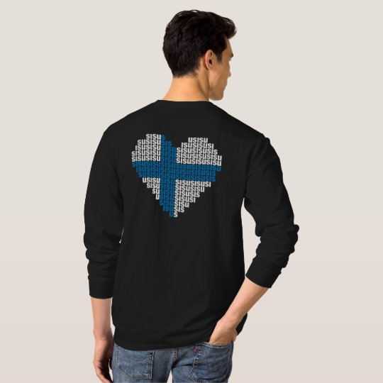 Sisu Heart Back Basic Long Sleeve T-Shirt