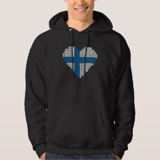 Sisu Heart Black Hooded Sweatshirt