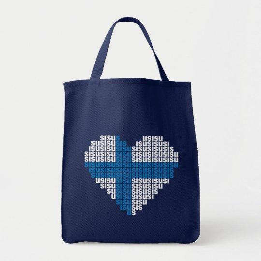 Sisu Heart Grocery Tote Bag
