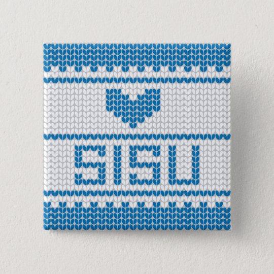 Sisu Heart Knit Button 1