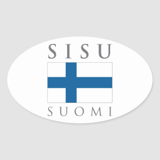 Sisu Suomi Oval Sticker