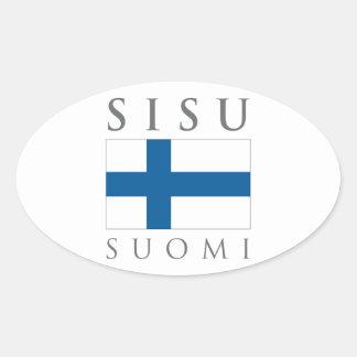 Sisu Suomi Oval Sticker