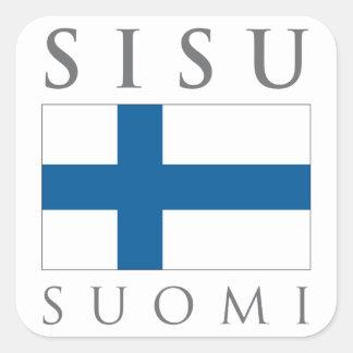 Sisu Suomi Square Sticker