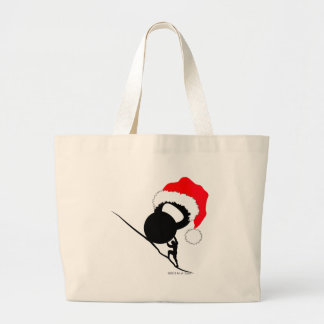 Sisyphus Kettlebell Merry Christmas Jumbo Tote Bag
