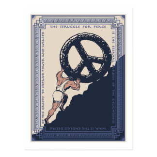 Sisyphus Peace Postcard