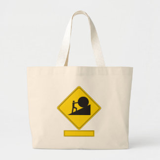 Sisyphus Road Sign Jumbo Tote Bag