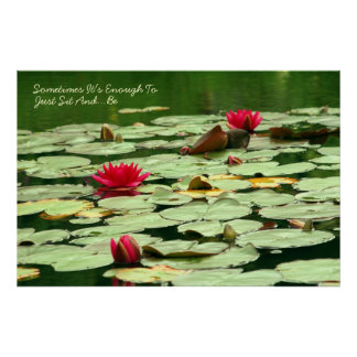 Sit and Be Waterlilies Poster