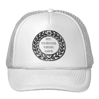 Sit.breathe.think.ride. block logo trucker hat