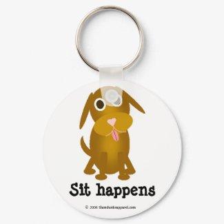 Sit happens keychain keychain