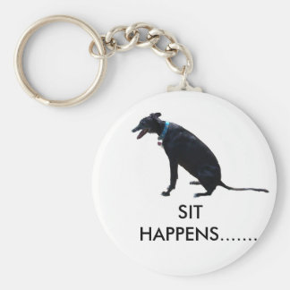 Sit Happens Keychain