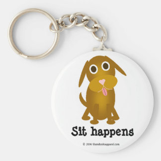 Sit happens keychain