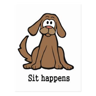 Sit Happens Postcard