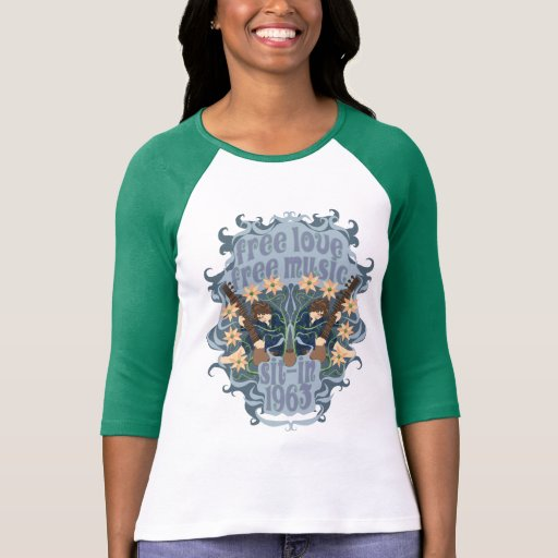 Sit-In 1963 Sitar Raglan T-Shirt
