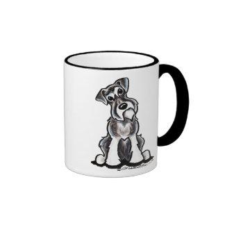 Sit Pretty Schnauzer Ringer Coffee Mug