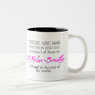 Sit-Relax-Breathe Two-Tone Coffee Mug