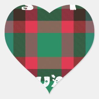 Sit Square Heart Sticker