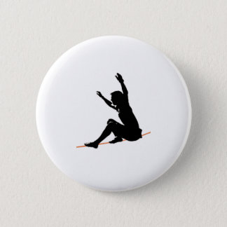 sit start on the line pinback button