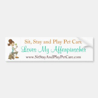 Sit, Stay and Play Pet Care Love My Affenpinscher Bumper Sticker