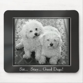 Sit.. Stay.. Good Dogs! Photo Frame Mousepad