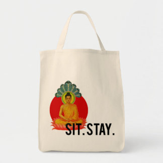 Sit. Stay. organic bag