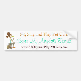 Sit, Stay & Play Pet Care Love My Airedale Terrier Car Bumper Sticker