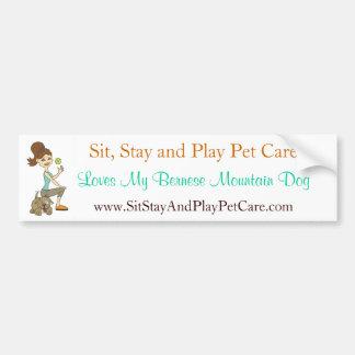 Sit, Stay & Play Pet Care Love My Bernese Mtn. Dog Car Bumper Sticker