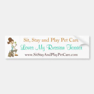 Sit, Stay & Play Pet Care Love My Russian Terrier Car Bumper Sticker