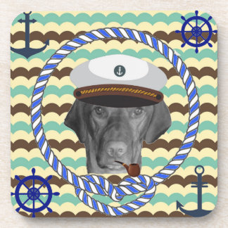 Sit Still and Coast Vizsla Beverage Coaster