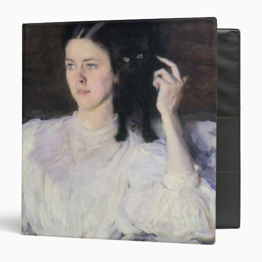 Sita and Sarita, or Young Girl with a Cat Vinyl Binders